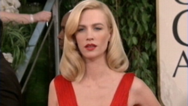VIDEO: January Jones credits eating her own placenta for giving her energy.