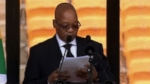 VIDEO: South African President Zuma at Nelson Mandelas Memorial Service
