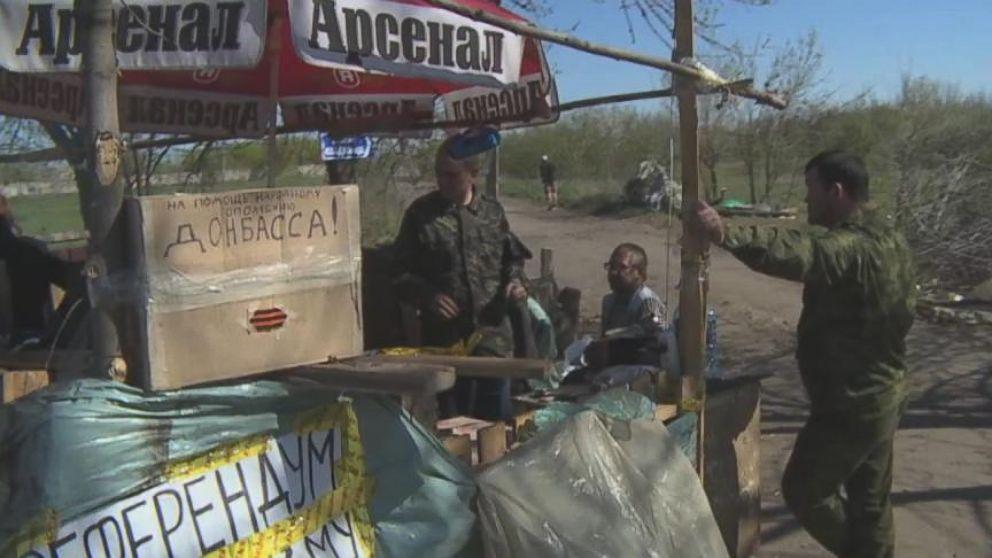 VIDEO: Protestors in Ukraine Block Milit