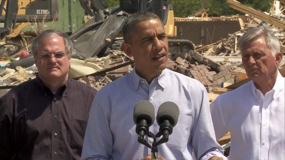 VIDEO: Obama Tours Arkansas Tornado Zone