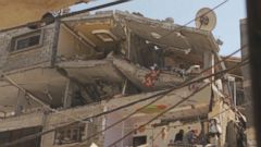 VIDEO: An Israeli Missile Collapsed the Top Two Floors of This Apartment Building