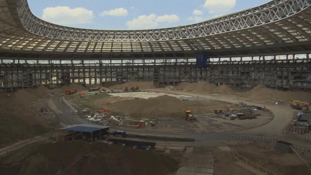 VIDEO: The Site of the 2018 World Cup Is a Construction Site Right Now