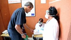 VIDEO: Travelers Pass Health Screening Before Leaving Liberia