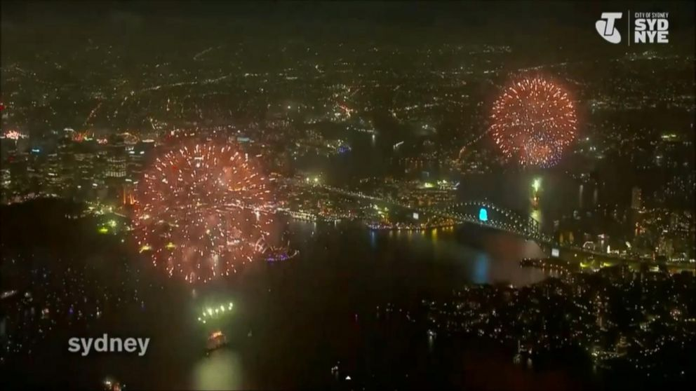 VIDEO: See the dazzling display from 1,000 feet over Sydney Harbor.