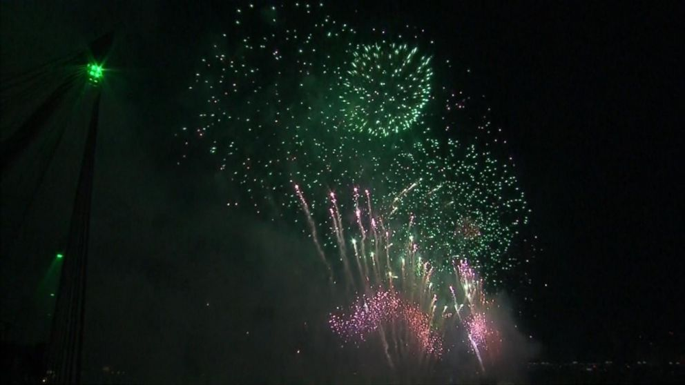 VIDEO: London rings in the New Year with fireworks display.