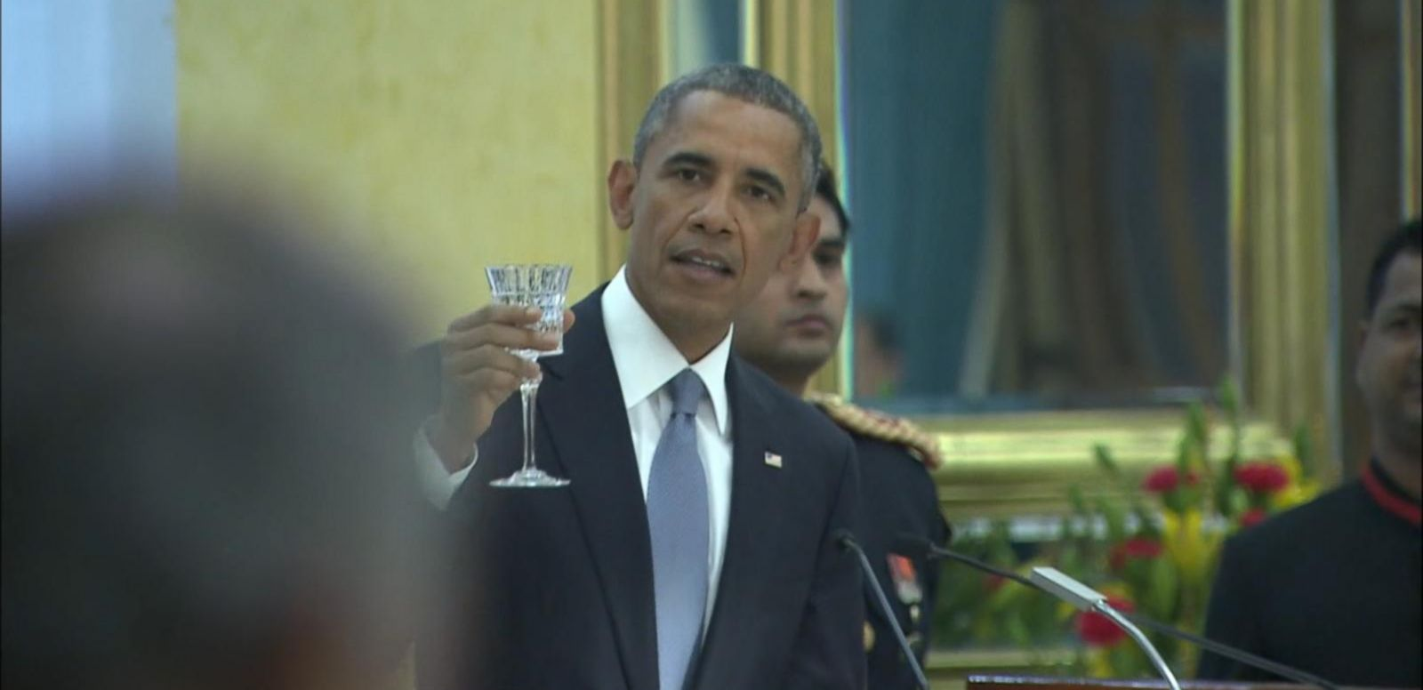 VIDEO: Obama Toasts Partnership Between India, US