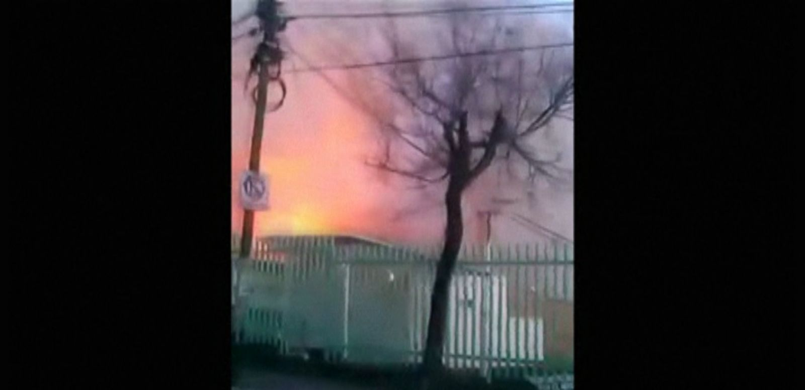 VIDEO: An eyewitness captured the moment a fireball erupted from a gas explosion at a Children's Hospital in Mexico City.