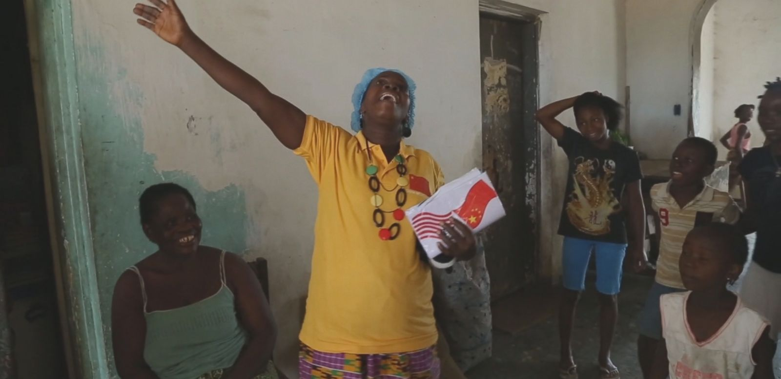 VIDEO: Beatrice Yardolo was greeted by her family after 16 days in an Ebola treatment unit.