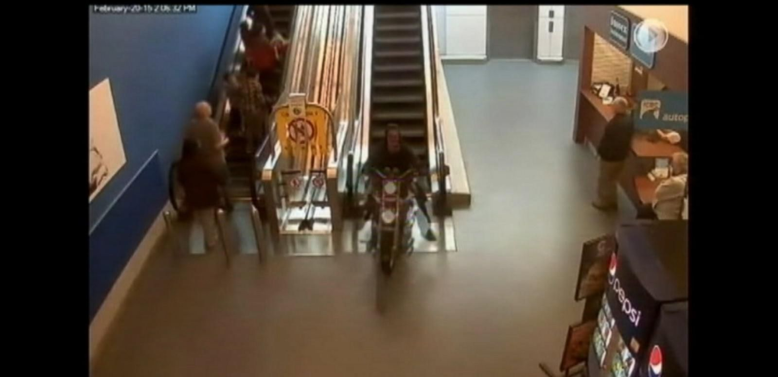 VIDEO: Motorcyclist Rides Through Canada Mall Complex