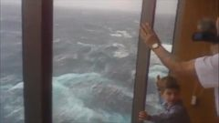 VIDEO: The Carnival Spirit was stranded at sea with several thousand passengers aboard because fierce storms forced the closure of the Sydney Harbour port in Australia.