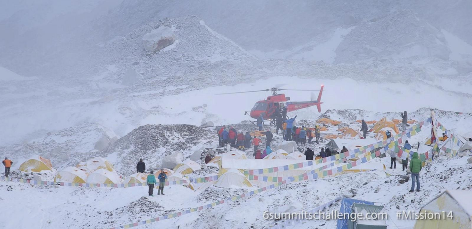 VIDEO: Climbers, Rescue Workers Aid the Injured After Mt. Everest Avalanche