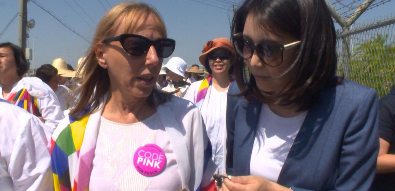 VIDEO: ABC News' Joohee Cho met with the marchers that included US activist Medea Benjamin.