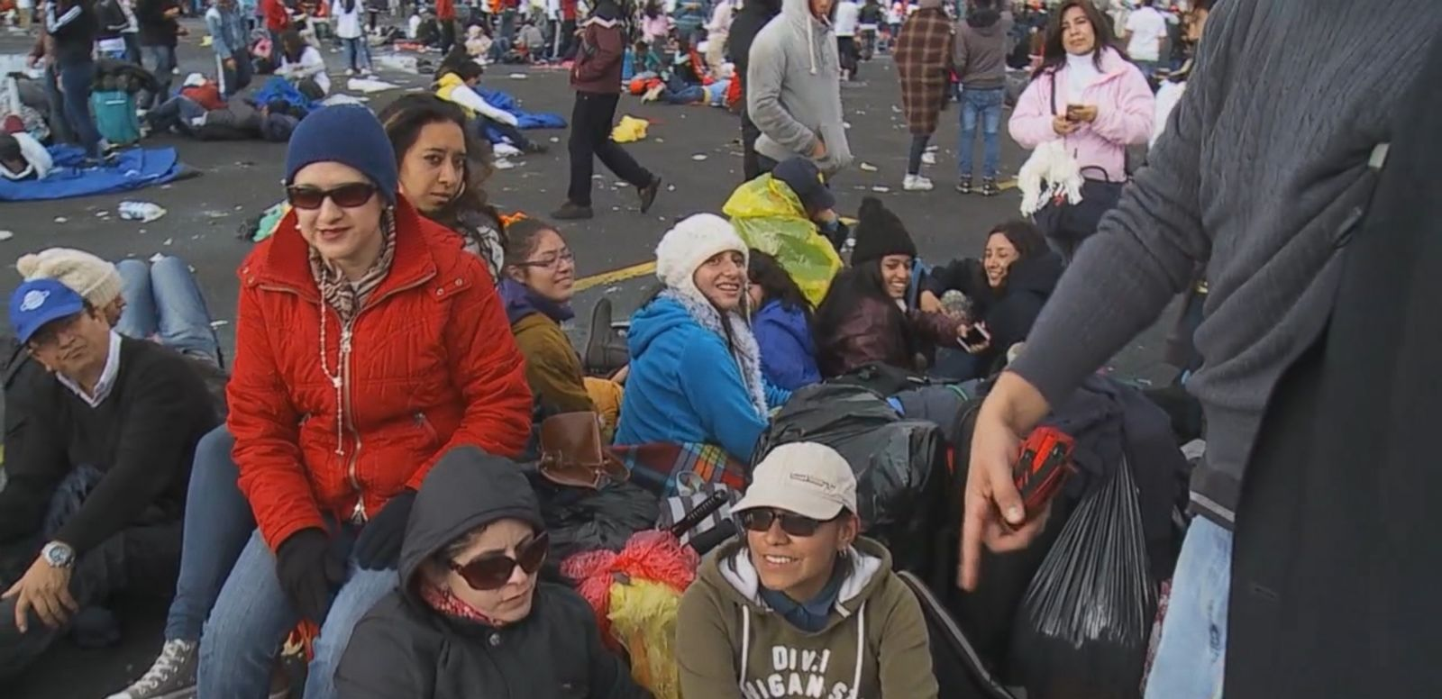 VIDEO: An estimated 1 million pilgrims gathered in Quito's Bicentennial Park, many sleeping overnight in pouring rain, to hear Pope Francis give mass during his trip to Latin America.