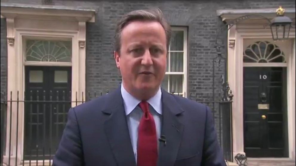 Prime Minister Cameron Sings To Himself After Announcing
