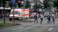 VIDEO: A Syrian man killed a woman with a machete and wounded two others Sunday outside a bus station in the southwestern German city of Reutlingen before being arrested.