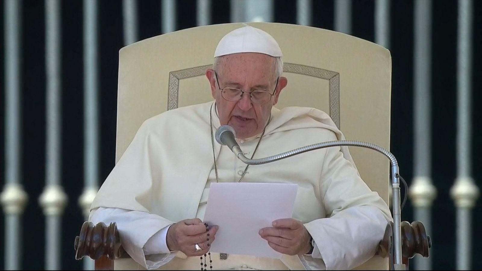 Pope Francis replaced his weekly catechesis in St. Peter's Square with a heartfelt address on the unfolding tragedy after a severe earthquake struck central Italy early Wednesday.