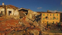 Officials say the towns of Amatrice and Accumoli appear to be the hardest hit by the quake, which struck at 3:36 a.m. local time.