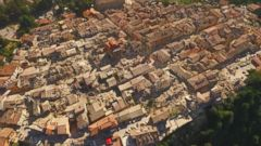 Aerial Video Shows Italy Earthquake Devastation