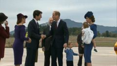 VIDEO: Prince William, Princess Kate Arrive for Royal Visit to Canada