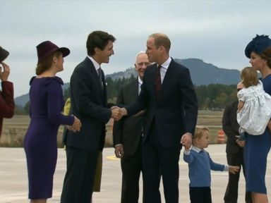 WATCH:  Prince William, Princess Kate Arrive for Royal Visit to Canada