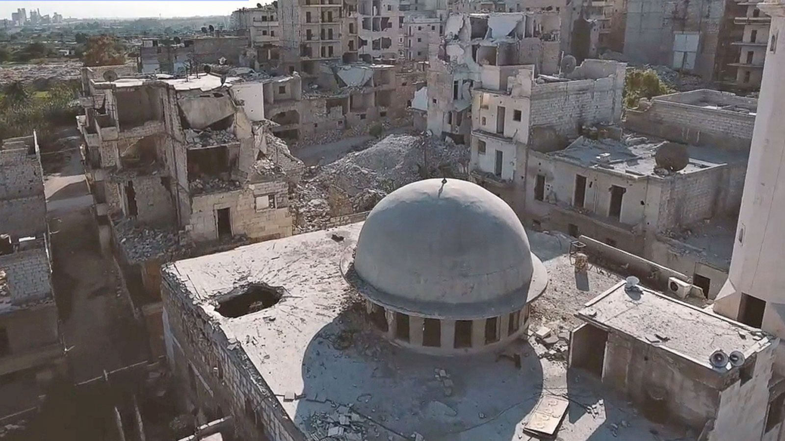 VIDEO: A Look From Above Shows Heavy Destruction In Aleppo After Repeated Bombing