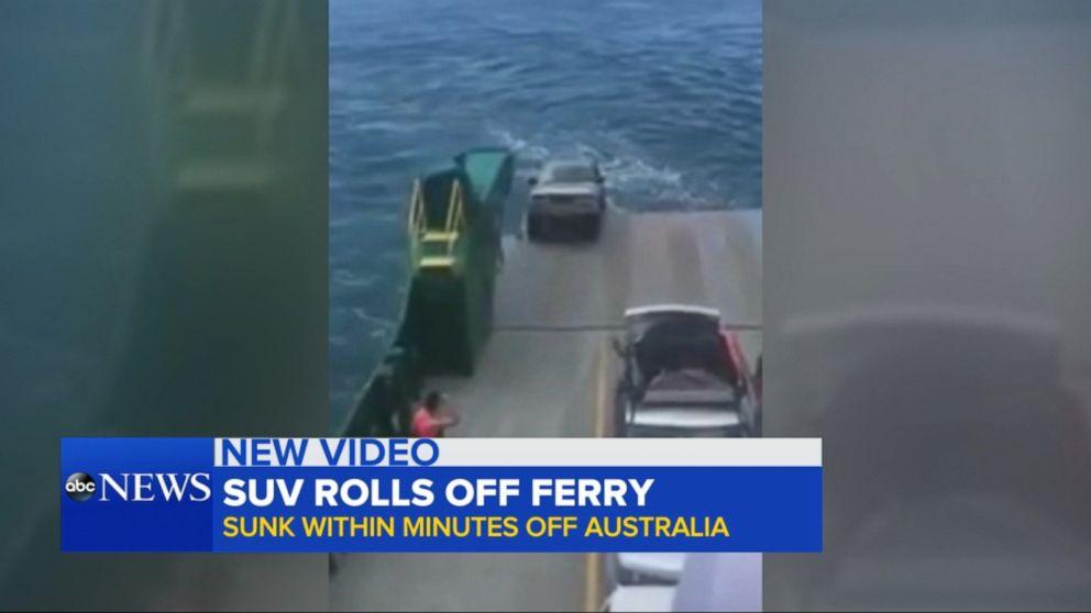 Car Rolls Off Ferry In Australia Video Abc News