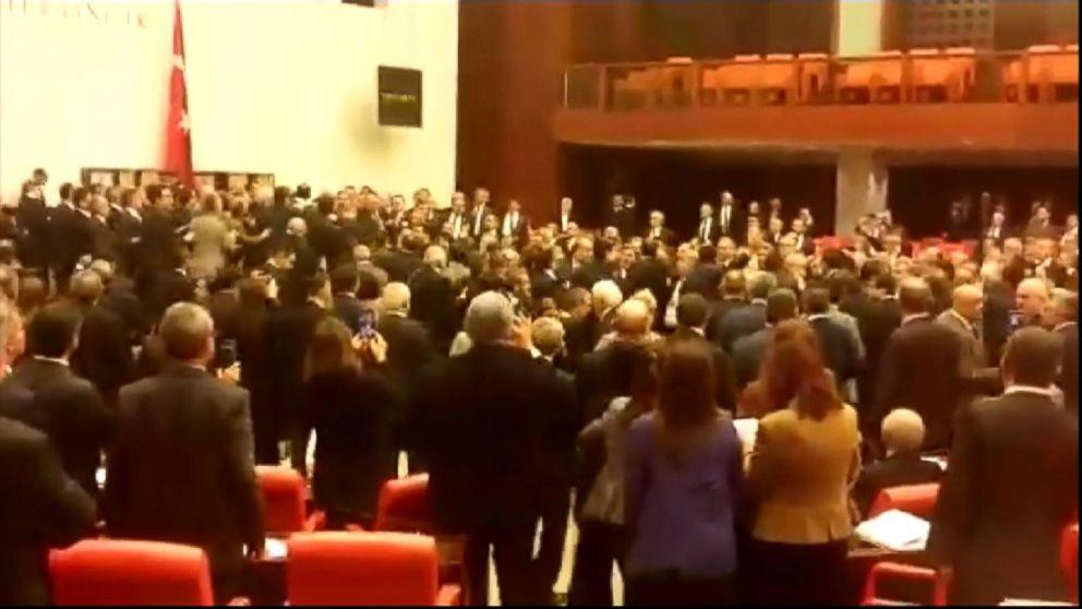 Brawl Erupts in Turkeys Parliament Over Constitutional Reform