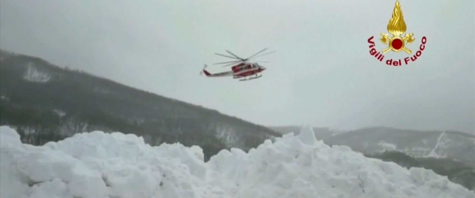VIDEO: The avalanche at Hotel Rigopiano on the Gran Sasso mountain, about 30 miles from the coastal city of Pescara, occurred after a series of earthquakes that shook central Italy on Wednesday.