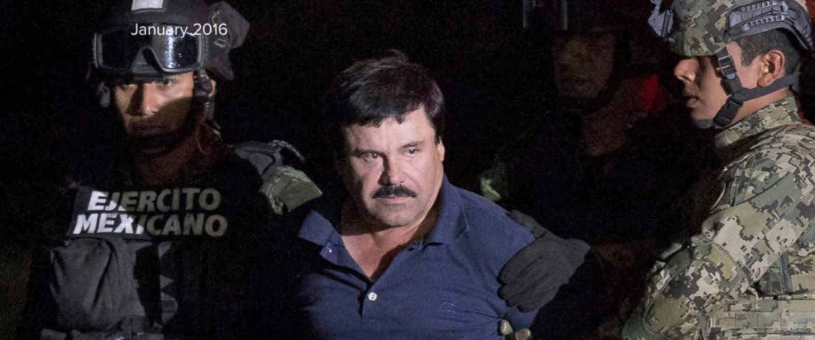The drug lord is being extradited from Mexico to the United States.