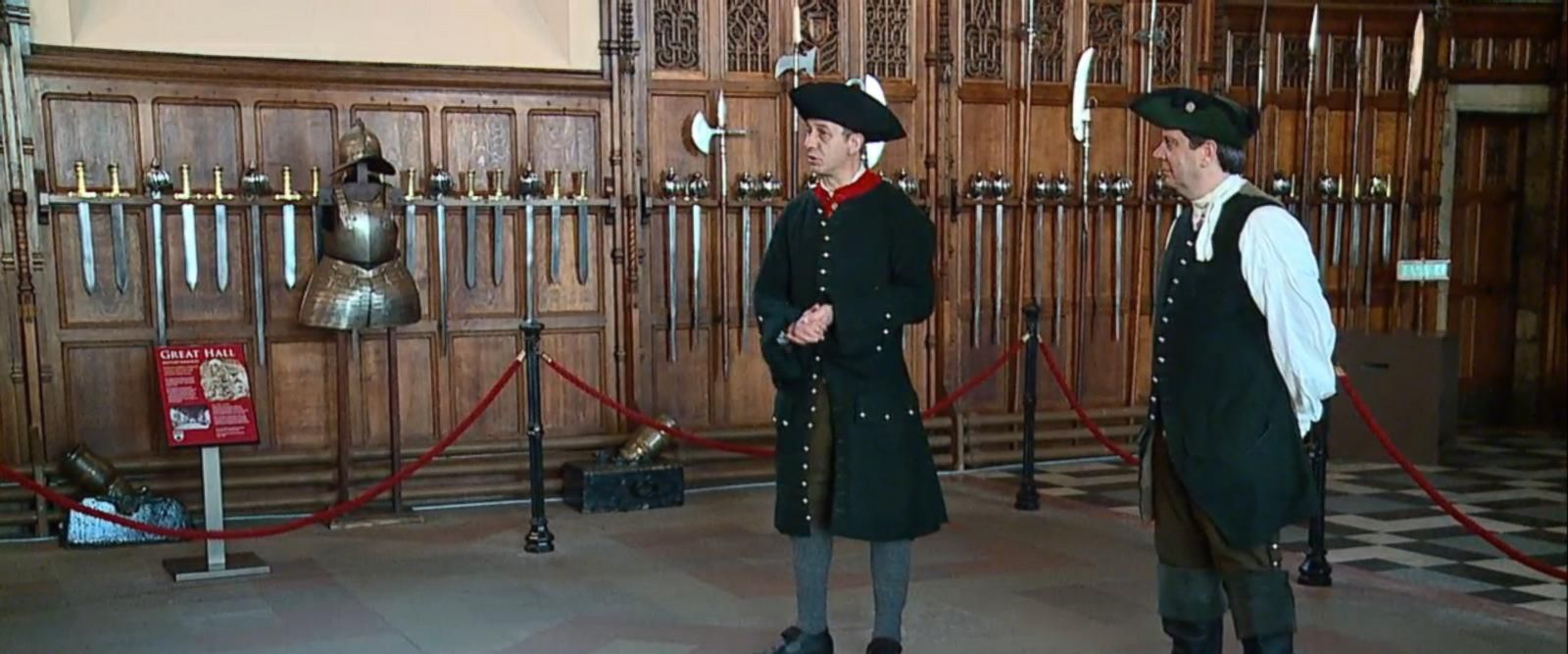 VIDEO: Intro to Scottish Poet Robert Burns in Grand hall at Edinburgh Castle