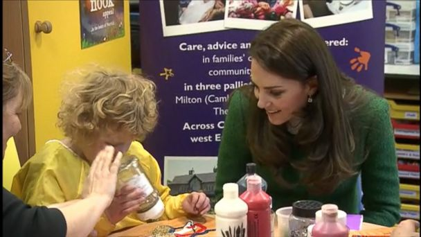 The Duchess of Cambridge visits the East Anglia's Children's Hospices center at Quidenham in Norfolk. She supports the charity as a royal patron.