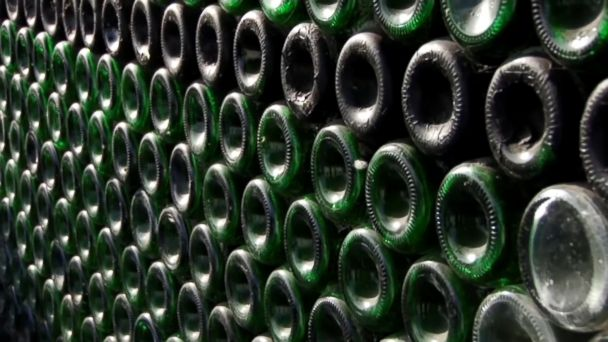 A Russian man from the Ural Mountains has built a house using 12,000 empty champagne bottles.