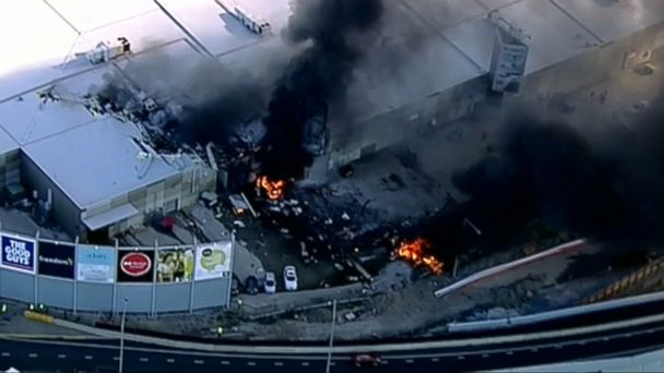 VIDEO: Four Americans were among five killed when a plane crashed into a shopping center shortly after takeoff near Melbourne, Australia, authorities said.