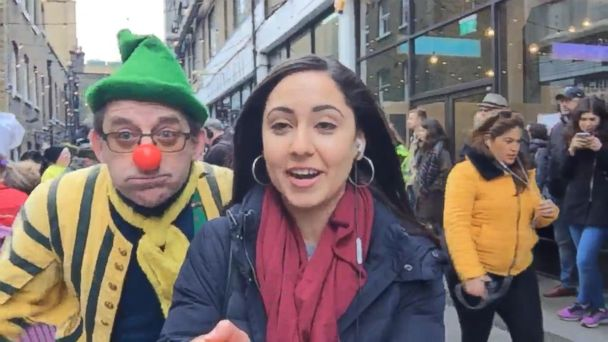 VIDEO: Meet the clowns and costumed competitors in London's pancake relay race