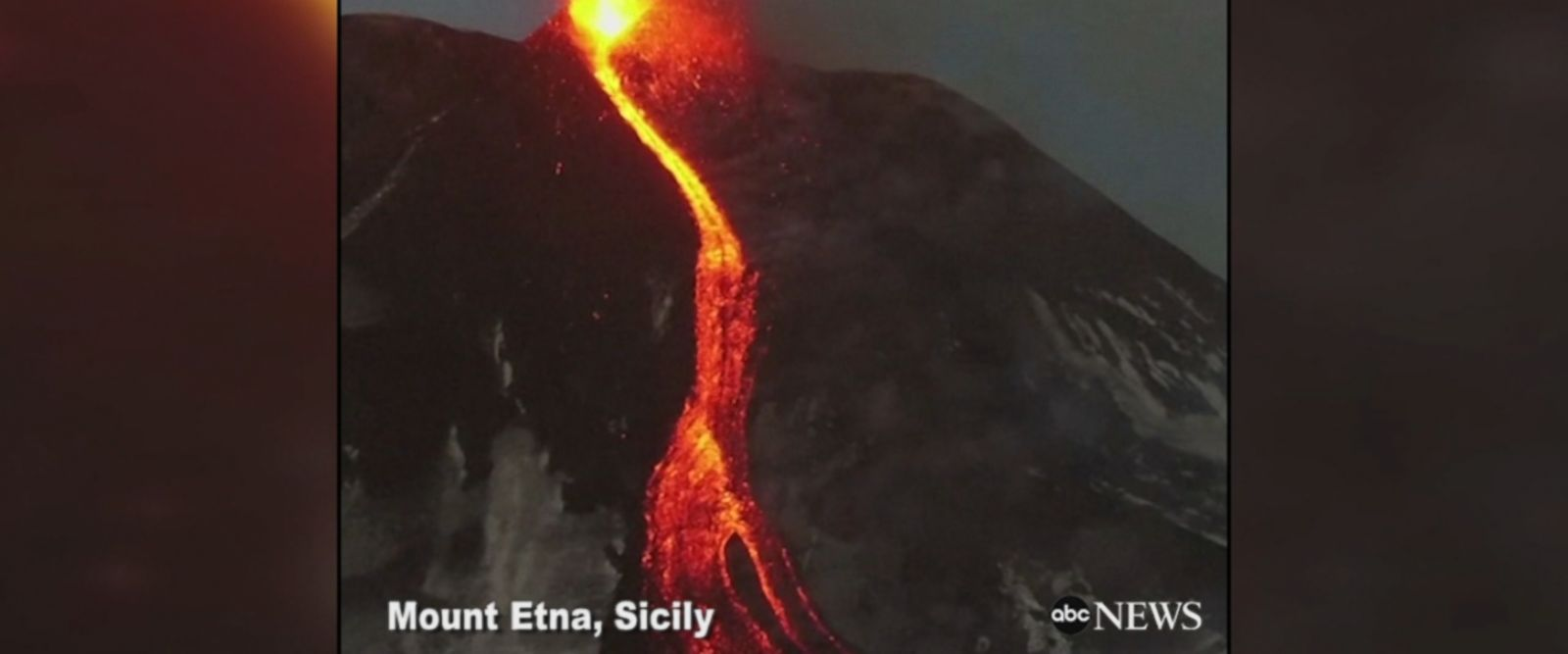 Drone footage captures Mount Etna volcano in Sicily erupting, spewing lava and ash into the sky.