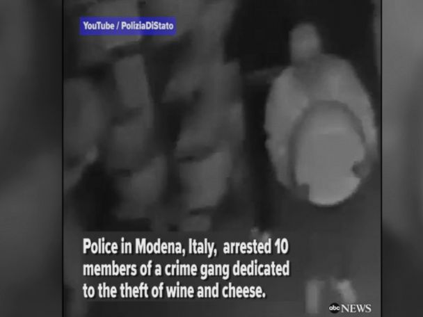 WATCH:  Crime gang dedicated to stealing wine and cheese arrested