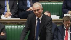 VIDEO: David Lidington, leader of the House of Commons, told members of Parliament a police officer has been stabbed and an alleged assailant was shot by armed police.