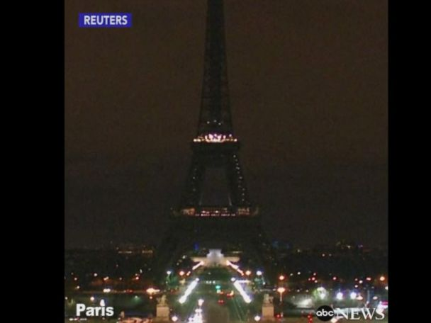WATCH:  Lights dimmed at Eiffel Tower after London attack