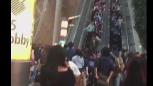 VIDEO: Escalator in Hong Kong mall suddenly reverses direction