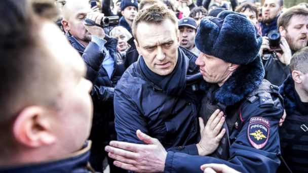 VIDEO: Alexei Navalny was fined 20,000 rubles (roughly $350) and given a 15-day jail sentence for violating public meeting rules and disobeying police.
