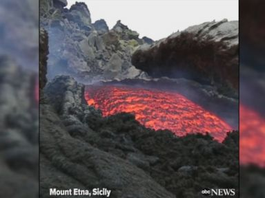 WATCH:  Lava flows from Mount Etna in Italy