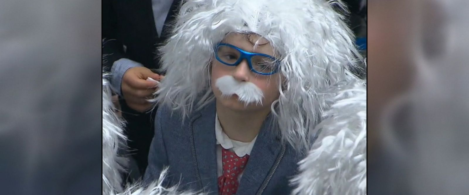 "More than 400 people dressed as Albert Einstein gather in downtown Toronto to set a new world record for ""largest gathering of Albert Einstein lookalikes."""