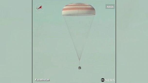 NASA astronaut Shane Kimbrough and Russia's Sergei Ryzhikov and Andrei Borisenko touched down at 5:20 p.m. local time Monday after spending 173 days in space.