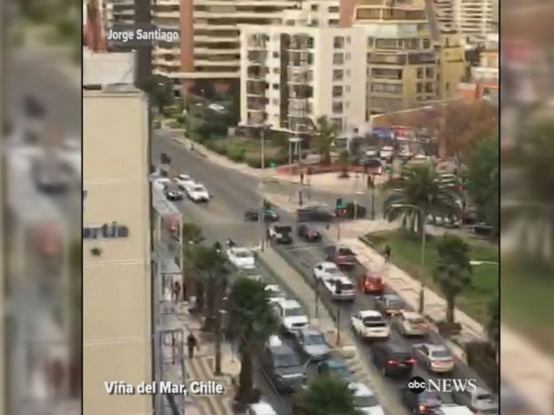 WATCH:  Powerful 6.9 quake shakes central Chile