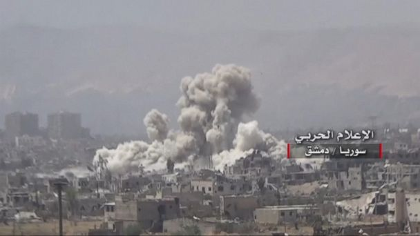 VIDEO: Syrian state media said it was from Israeli missiles; Israel had no comment.