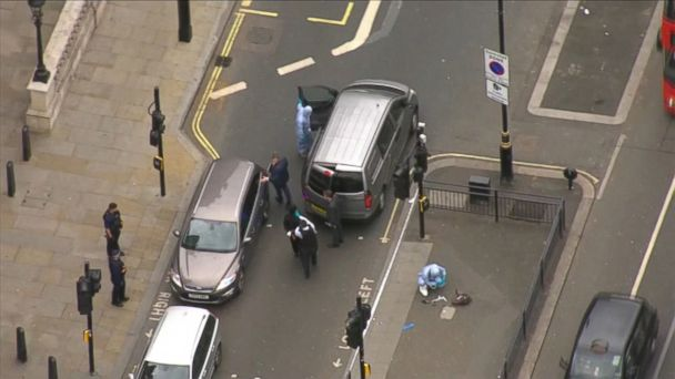 VIDEO: Authorities have cordoned off Whitehall and Parliament Street, where the suspect was arrested, near Parliament Square this afternoon, following a stop-and-search operation.