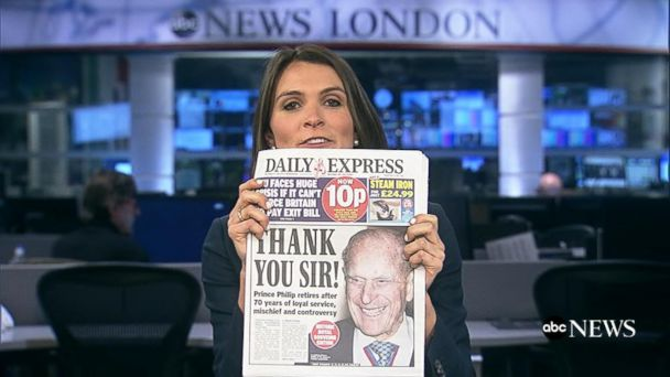 VIDEO: Tabloids react to Prince Philip retirement