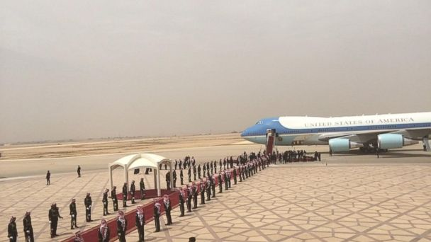 VIDEO: Trump arrives in Riyadh, Saudi Arabia, on first foreign trip