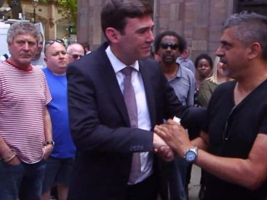 WATCH:  Hugs, tears and applause when proud British Muslim meets Manchester mayor