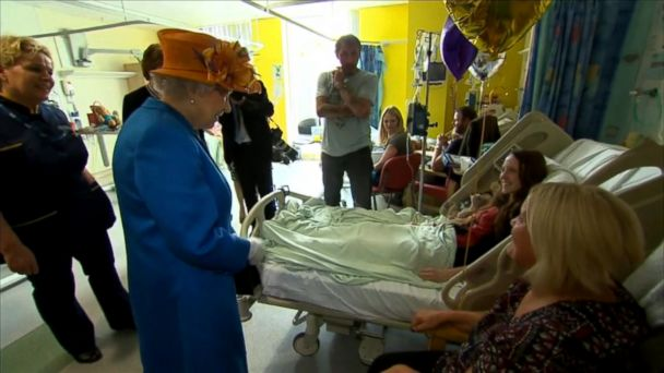 The queen visited Royal Manchester Children's Hospital to meet with survivors of the deadly blast that killed 22 people after an Ariana Grande concert.